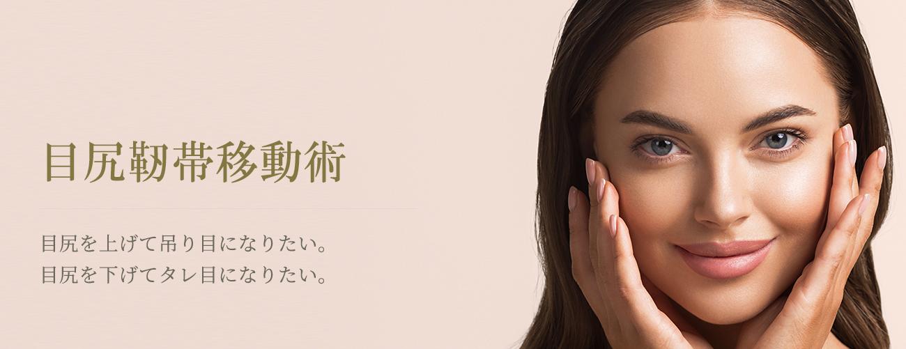 目尻靭帯移動術